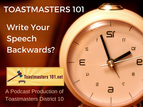 organize your speech backwards