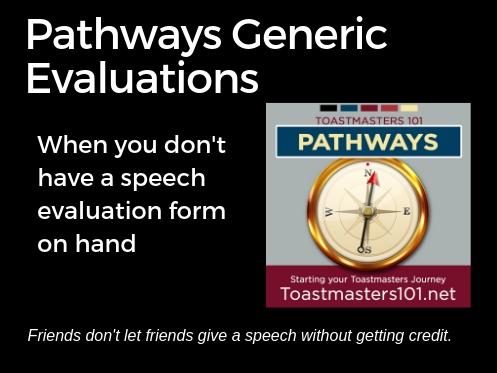 Pathways Generic Evaluation forms