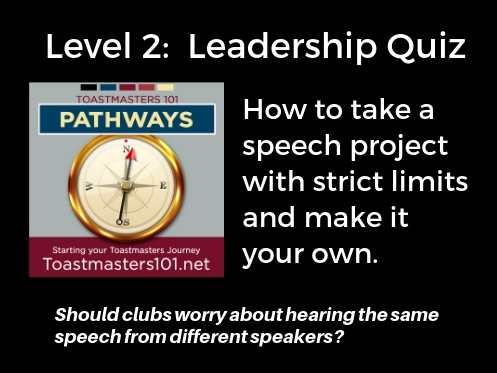 Level 2 Leadership quiz project