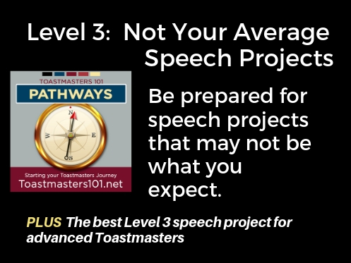Not your average speech project Toastmasters 101