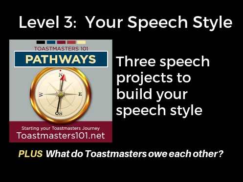 Speech style Level 3 Toastmasters101 podcast