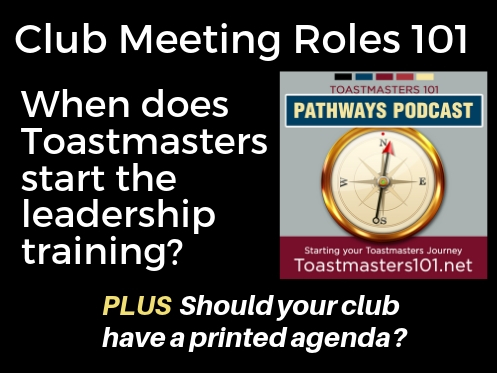 Club Meeting Roles – Introduction to Leadership