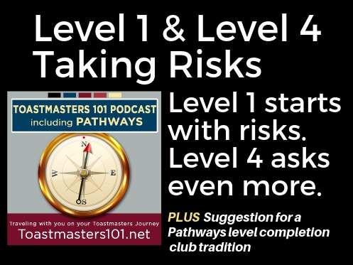 Level 1 and Level 4: Taking Risks