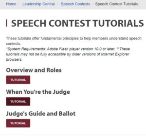 Speech Judge Tutorials Toastmasters 101