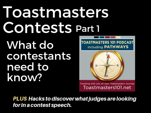 Let the Toastmasters Contests Begin:  Contestants