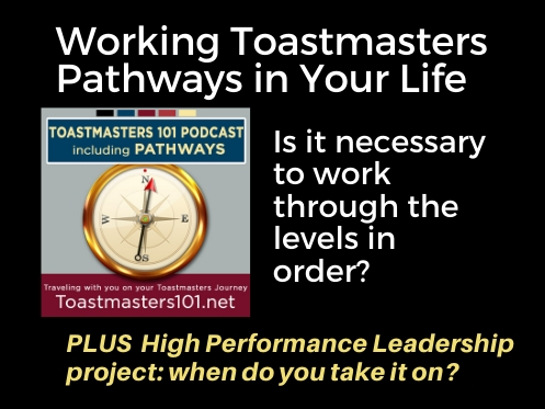 Working Toastmasters Pathways