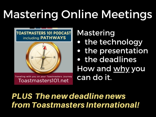 Mastering Online Meetings Toastmasters 101