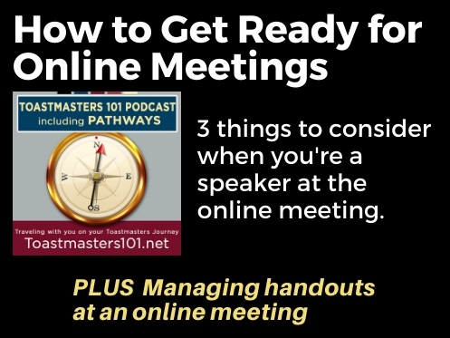 How to get ready for online Toastmasters meetings