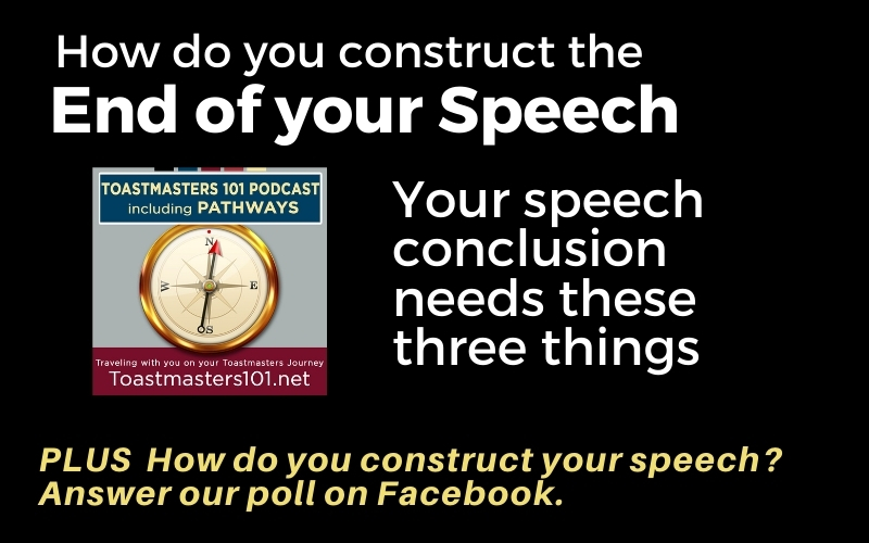 How to end your speech in Toastmasters