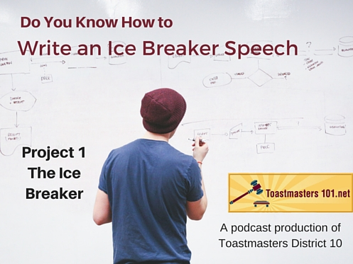 how to write an ice breaker speech