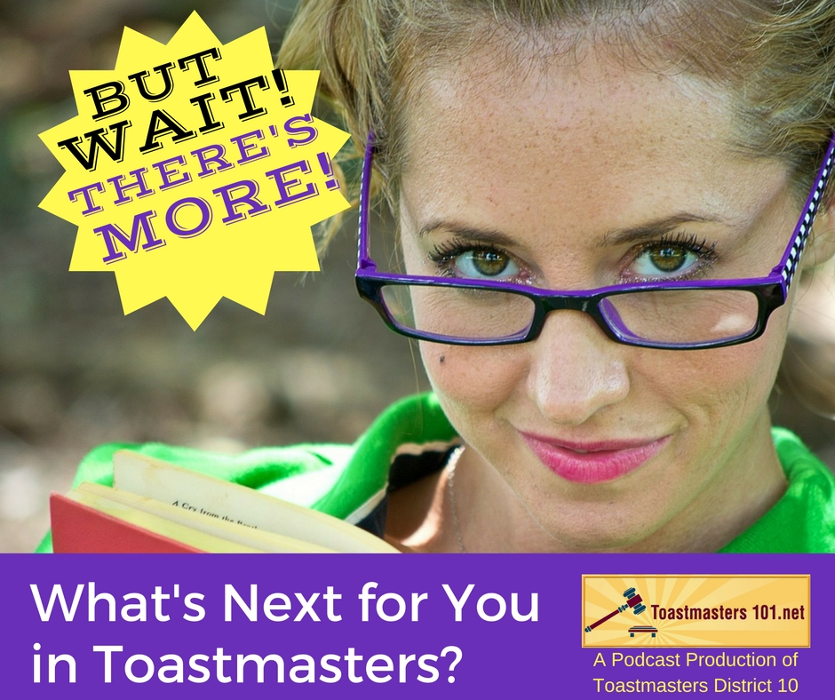 Finished the Competent Communicator? Toastmasters' Next Step