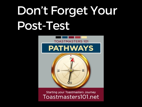 Don't forget your post-test!