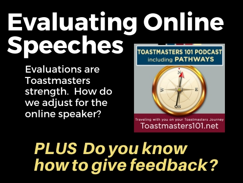 Evaluating Online Speeches Toastmasters 101