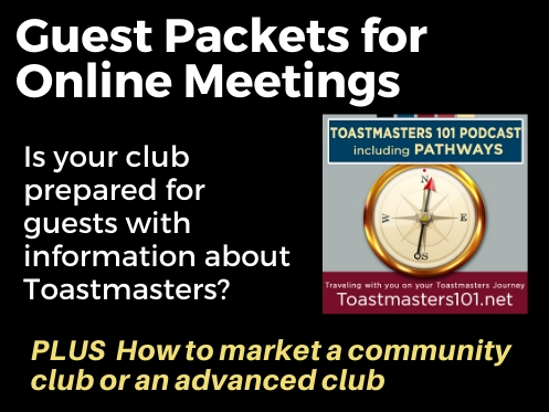 Guest Packets for Your Toastmasters Clubs